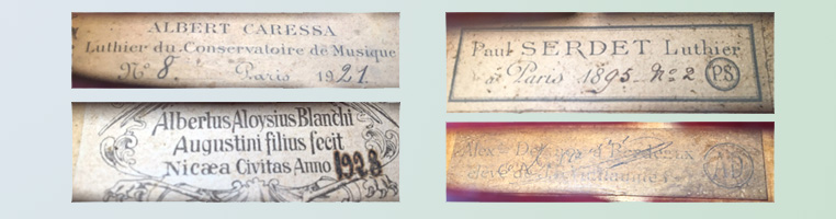 Violin labels
